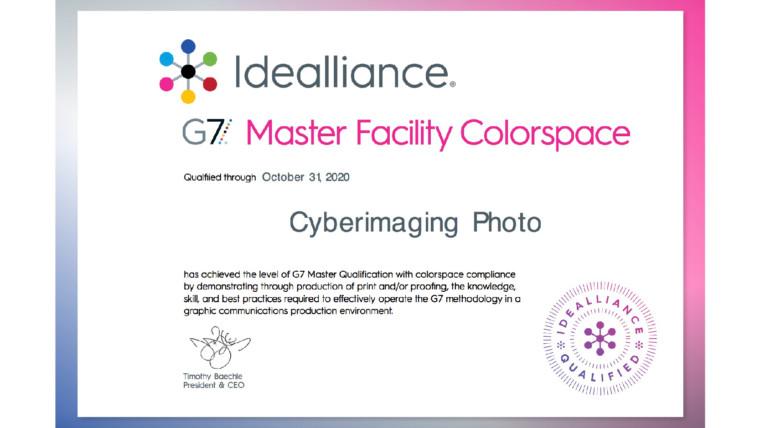 台灣第一家取得G7 最高等級 ColorSpace的認證輸出公司