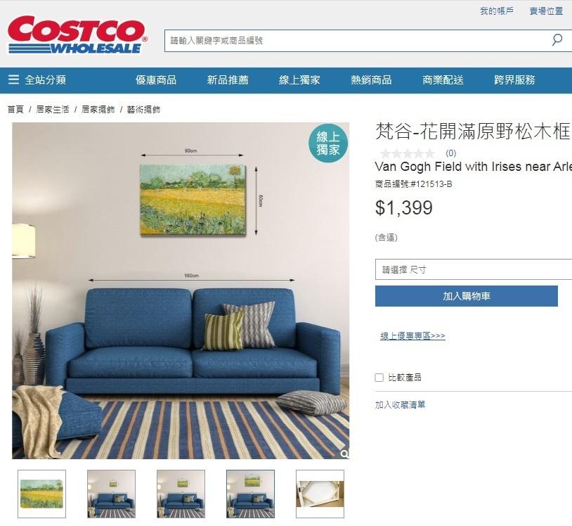 Costco好市多線上購物-木框油畫